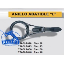 Anilla L tipo Sic abatible globo diametro 25mm