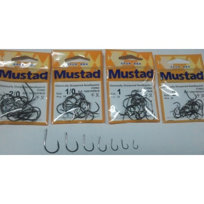 Anzuelos Mustad CHINU 10001 NPBLN Nº1 25PZ