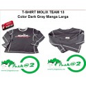 Molix T-Shirt  Team 13 Manga Larga col. Dark Gray M