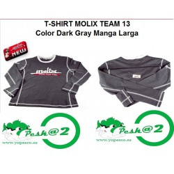 Molix T-Shirt Team 13 Manga Larga col. Dark Gray XL