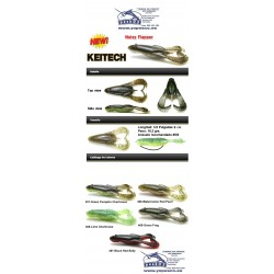 """Keitech Noisy Flapper  3.5"""" col (468)-Lime Chartreuse PP."""
