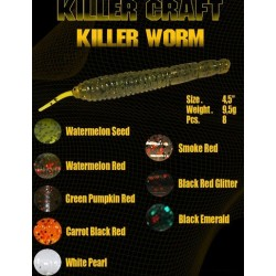 killer craft worm 120mm 9´5gr C white pearl