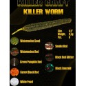 "Killer craft worm 120mm 4,5"" 9,5 gr. c. black red glitter"