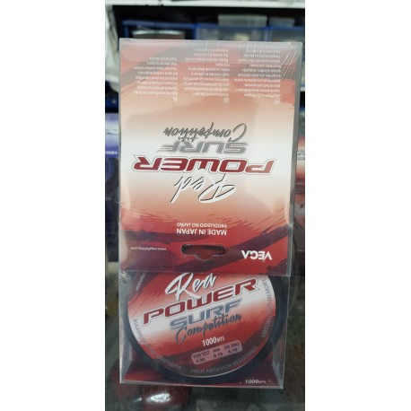 Linea Vega Power Surf   Red 1000Mtrs